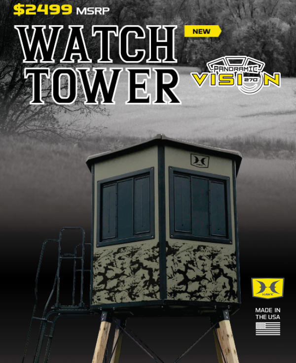 Hawk 174 Introduces Panoramic Vision Watchtower Box Blind