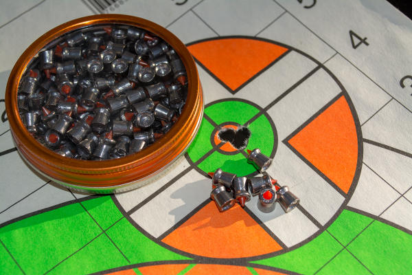 These Gamo Red Fire .22 15.4-grain pellets printed a nice five-shot group.