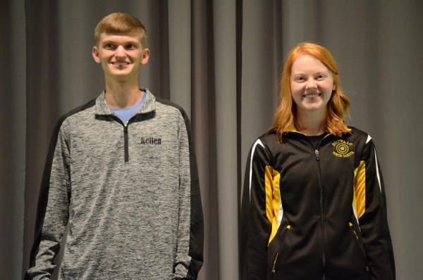 Katie Zaun and Kellen McAferty were the highest scoring female and male competitors of the events.