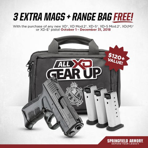 Springfield Armory Announces All XD Gear Up Promotion