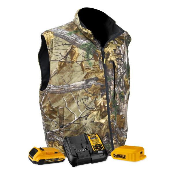 Radians Dewalt Heated Fleece Vest Outdoor Wire
