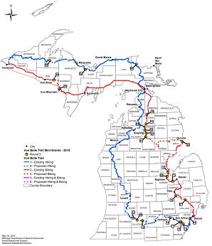 Michigan: DNR Announces Recipients of Iron Belle Trail
